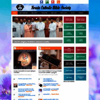 keralabiblesociety com at WI  Kerala Catholic Bible Society
