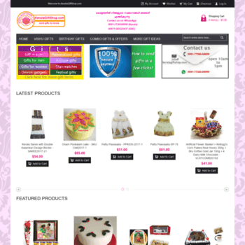 keralagiftshop.com at WI. Send Gift to