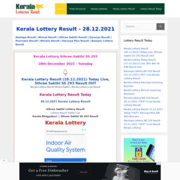 Keralalotteriesresult.in thumbnail