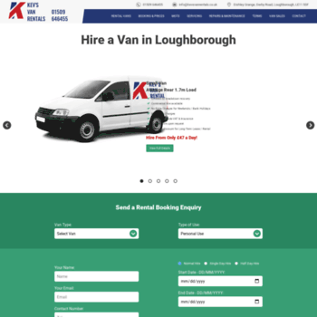 Kevsvanrentals Co Uk At Wi Kevs Van Rentals Loughborough