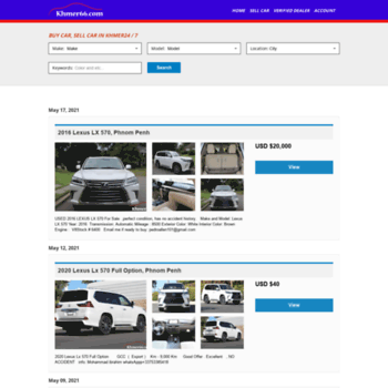 khmer66 com at WI  Buy Car, Sell Car, Search Car in Cambodia in