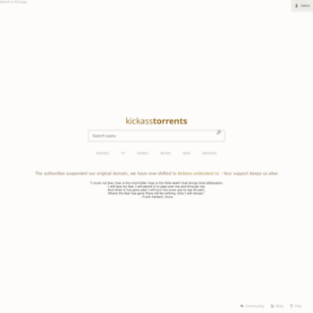 kick asstorrents.com/ movies unblocked