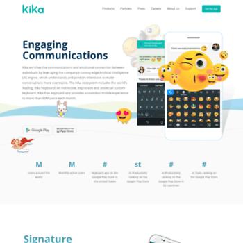 kikakeyboard com at WI  Kika Android Keyboard App - Free Keyboard
