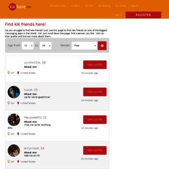 kikbase com at WI  TOP Kik Usernames & Friends - KikBase com