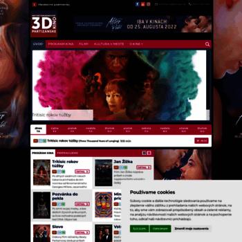 e55b2a96d kinope.sk at WI. Kino Partizánske – program a vstupenky online