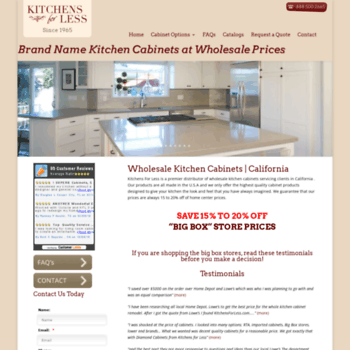 kitchensforless.com at WI. Kitchens For Less | wholesale ...