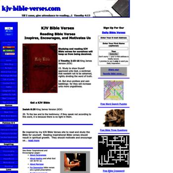 kjv-bible-verses com at WI  KJV Bible Verses - Inspiring