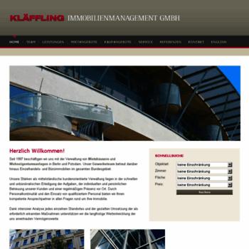 Klaeffling.de thumbnail