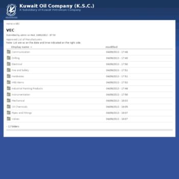 kockw net at WI  VEC | Kuwait Oil Company (K S C )