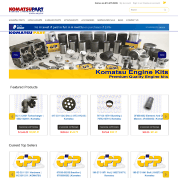 komatsupart com at WI  Buy Komatsu Parts | Komatsu Engine