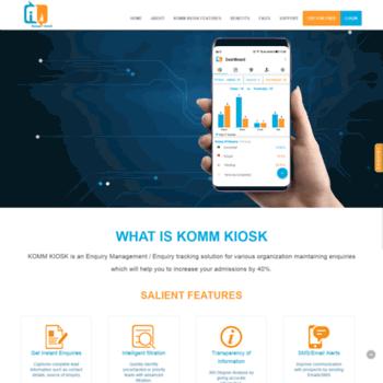 kommkiosk com at WI  Enquiry Management Software – Download