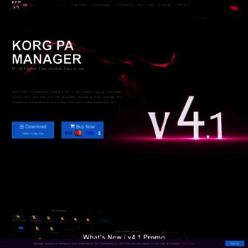 korgpamanager com at WI  KORG PA Manager | Home | KORG SET Editor