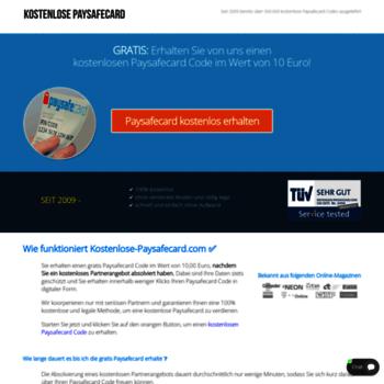 Kostenlose-Paysafecard