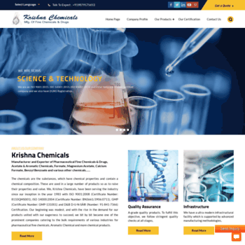 Krishnachemical.net thumbnail