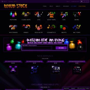 kronkitems dpdcart com at WI  RealmStock - Cheapest RotMG Shop