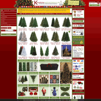 Kuenstlicherweihnachtsbaum.de thumbnail