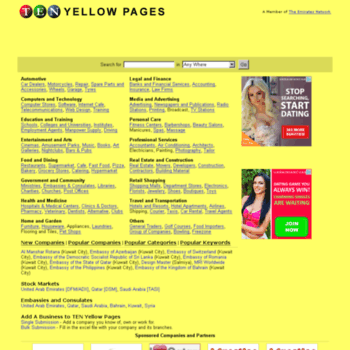 kuwaityellowpages net at WI  Kuwait Yellow Pages and