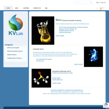kvlab com at WI  Buy MMS Chlorine Dioxide, Parasites, Detoxification