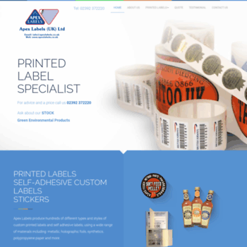 Label Specialists Co Uk Thumbnail Custom Printed Self Adhesive