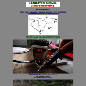 laboratoridenvol com at WI  laboratori d'envol - glider