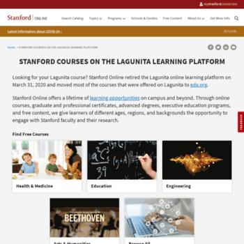lagunita stanford edu at WI  | Stanford Lagunita