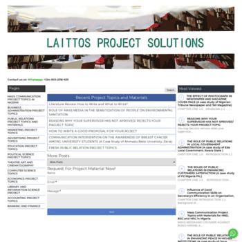 Laittosprojectsolutions.blogspot.com.ng thumbnail