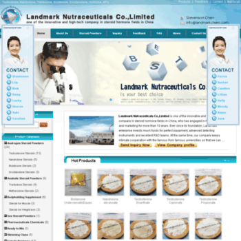 landmarkchem com at WI  Steroid powders, Hormone Raw Powders