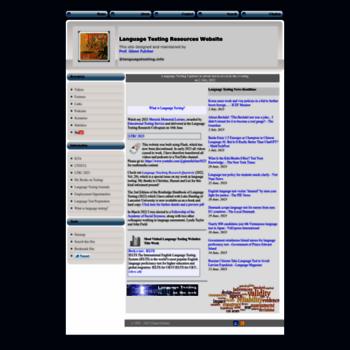 Languagetesting.info thumbnail
