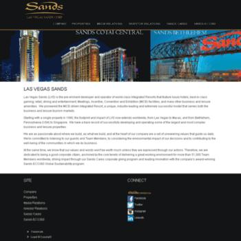 lasvegassands com at WI  Las Vegas Sands Corporation