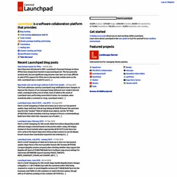 Веб сайт launchpad.net