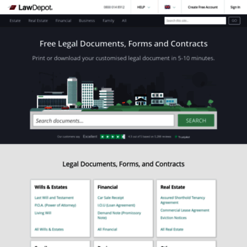 Lawdepotcouk At WI Free Legal Documents Forms Contracts