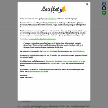 leafletjs com at WI  Leaflet - a JavaScript library for