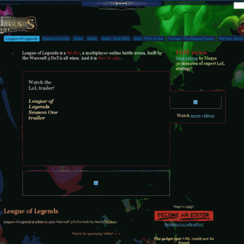 leagueoflegends-wiki com at WI  League of Legends wiki - Champions