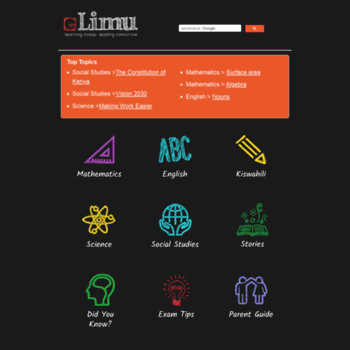 learn e-limu org at WI  eLimu | KCPE Revision Home