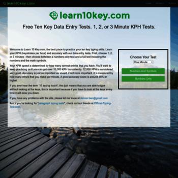Beaches] Free data entry typing test kph