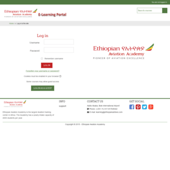 learning1 ethiopianairlines com at WI  Ethiopian Aviation