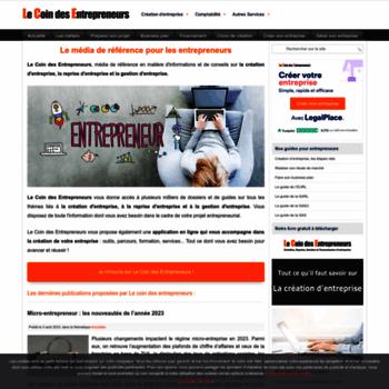 Lecoindesentrepreneurs.fr thumbnail