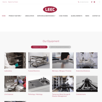 leec co uk at WI  Mortuary Products, Funeral Equipment, Laboratory