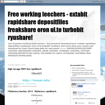 leechrs blogspot com br at WI  Free working leechers - extabit