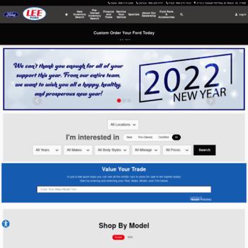 Lee Motor Wilson Nc >> Leemotor Com At Wi Lee Ford Lincoln Ford Dealership In