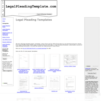 legalpleadingtemplate com at wi legal pleading templates