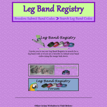 Legbandregistry.com thumbnail