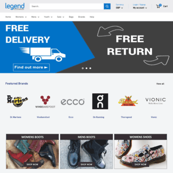 legendfootwear.co.uk at WI. Boots,Shoes,Trainers,Sandals for