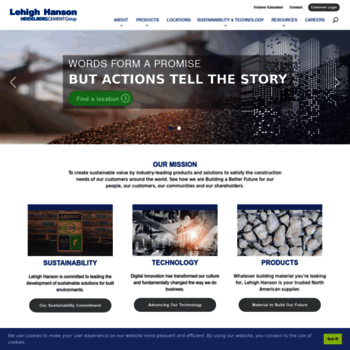 lehighhanson com at WI  Supplier of Building Materials and
