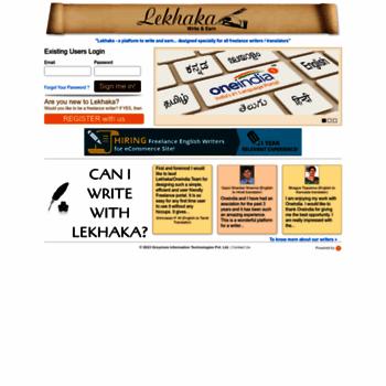 lekhaka com at WI  Freelance Content Writer Jobs, Freelance