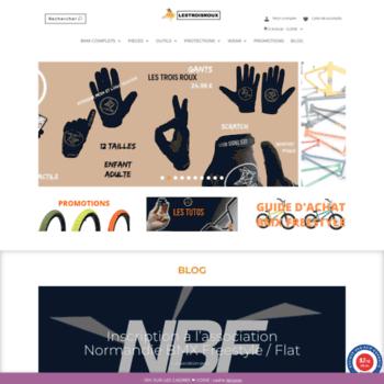 Lestroisrouxbmxshop.fr thumbnail