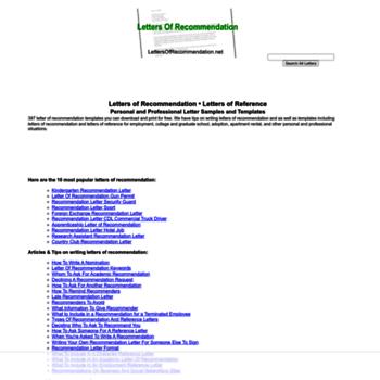 Lettersofrecommendation.net thumbnail