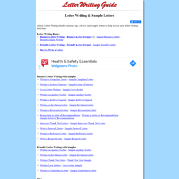 Letterwritingguide.com thumbnail