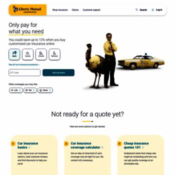 Liberty Mutual Com >> Libertymutual Com At Wi Start Saving With A Free Custom Quote