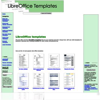 Libreofficetemplates.net thumbnail